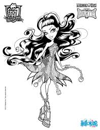 Small Picture Coloring Pages Monster High Coloring Pages Printable Print Color