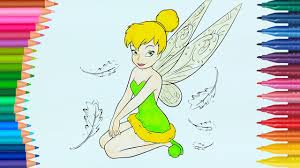 Tinker Bell How To Draw And Color Coloring Page Little Hands