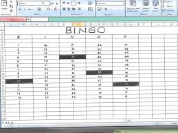 Office Bingo How To Make A Bingo Game In Microsoft Office Excel 2007 9 Steps