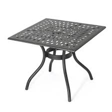 Vienna square cast aluminum outdoor dining table