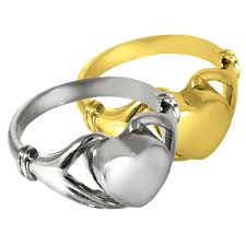 heart ring for cremains