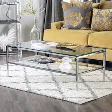 Furniture of America Midiva Contemporary Metal Coffee Table Free