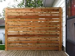 unpolished hickory wood privacy screen decorating ideas outdoor decks with vinyl fencing also landscape design
