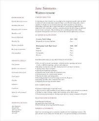 Resume For Waitressing Waitress Duties Job Description – Creer.pro