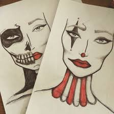 A Couple Of Simple Halloween Face Charts Halloween Clown