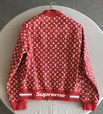 louis vuitton x supreme leather blouson monogram jacket 1a3f