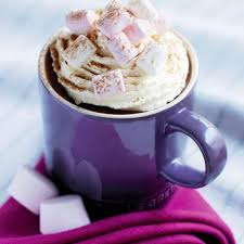 hot chocolate with marshmallows and whipped cream. Simple Marshmallows Inside Hot Chocolate With Marshmallows And Whipped Cream T