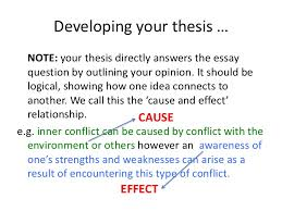 conflict essay writing