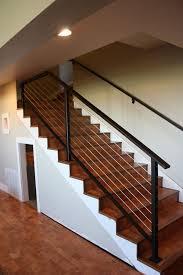 basement stairs railing ideas unique shaped decoration fence Basement Stair Railing  Ideas
