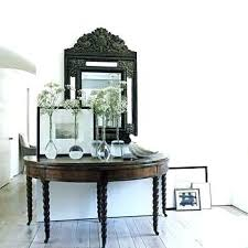 half round entry tables moon table target entryway hall console