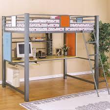 Metal Full Size Loft Bed Frame