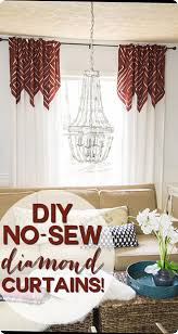 these no sew anthropologie inspired diamond curtains started as plain old panels from ikea