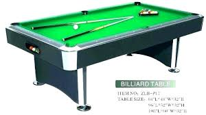 Pool Table Sizes Chart Mensions Of Pool Tables What Size Is A Table Billiard Sizes