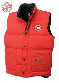 Wholesale Cheap Canada Goose Freestyle Vest Red For Men Christmas Deals