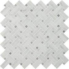 marble basketweave tile. MSI Carrara White Basketweave 12 In. X 10 Mm Polished Marble Tile M