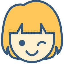 Cute Wink Emoticon Stock Vector Colourbox