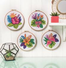 Modern Cross Stitch Patterns Custom Modern Cross Stitch Tropical Flowers Cross Stitch Pattern Tiny