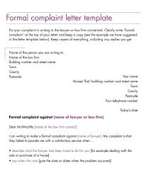 Complaint Mail Format Formal Business Letter Service Email