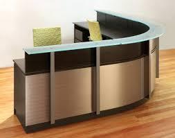 office desk organizer ideas accessories wrap reception desks modern furniture curved stainless steel glass counters diy