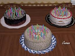 Mod The Sims Recolorable Celebrate Anytime Birthday Cake In 3