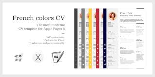 the french colors cv resume premium template for apple pages  the french colors cv resume premium template for apple pages 5 mac osx com