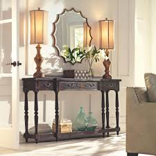black console table with storage. Mitchell Black Rubbed Storage Console Table With