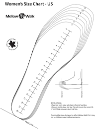 Printable Shoe Size Chart Women Printable Coloring Pages