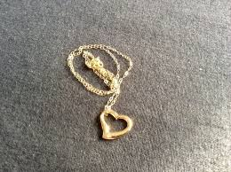 9ct gold floating heart necklace