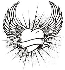 Small Picture Hearts Wings Coloring Pages For Adults FreeWingsPrintable