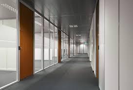 office corridor door glass. Corridor With Partition Walls And HPL-doors Office Door Glass R