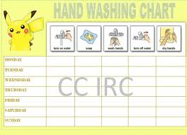 Laminated Hand Washing Chart Pokemon Rewardcharts Chart