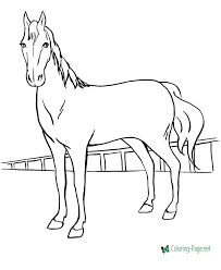 Printable Coloring Page Of A Horse Printable Horse Coloring Pages In