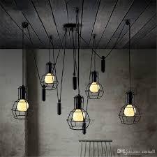 cheap vintage lighting. Loft Pendant Light Vintage Nordic Edison Bulb Chandelier Retro Ceiling  Spider Lamp Antique Adjustable DIY E27 Art Lght Fixture Cheap Vintage Lighting