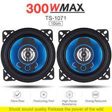 2 Chiếc Bền 4 Inch 2Way 300W Loa Ô Tô Xe Hơi HIFI Âm Thanh Toàn Dải Tần Số  Đồng Trục Loa Cao Cấp sân Loa|Coaxial speakers