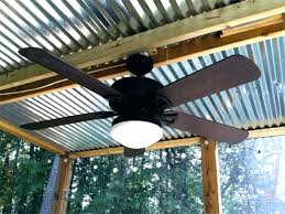 outdoor porch ceiling fans corrugated metal roof patio covered cheerful with li