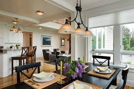 dining room lighting. Gambrel Country Home Farmhouse Dining Room New York By Crisp Throughout Lighting Idea 2