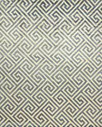 greek key rug green