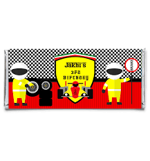 personalized chocolate bar wrappers race car personalized candy bar wrapper set of 12 art paper creative party