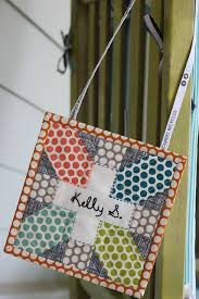 Super cute idea for a name tag! I really love this. reblogged from ... & Quilted name tag Adamdwight.com