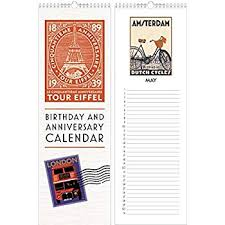 Birthday Anniversary Calendar Amazon Com Linnea Design Birthday And Anniversary Perpetual