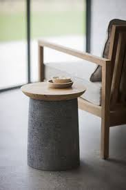 Cement side table Wooden Stool Small Concrete And Wood Side Table furniture Pinterest Small Production In 2019  Pinterest Concrete