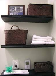 dark wood shelves medium size of bathroom storage ideas with black stained wooden wall shelves combination