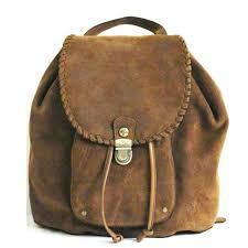 patricia nash casape backpack cognac burnished suede school tote bag brown