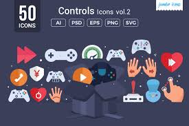 Almost files can be used for commercial. Gaming Controls Vector Icons Graphic By Jumboicons Creative Fabrica