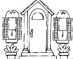 front door clipart black and white. Front Door Clipart Church Doors (32+) Black And White D