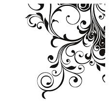Swirl Design Co Black Swirl Designs Corner Images Pictures Becuo Clip