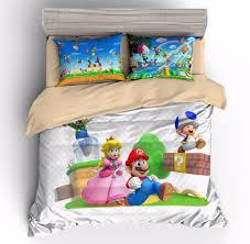details about super mario princess peach kids bedding duvet cover sets quilt cover pillow sham