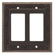 liberty kitchen cabinet hardware greek key double gfi decora in brushed oil rubbed bronze