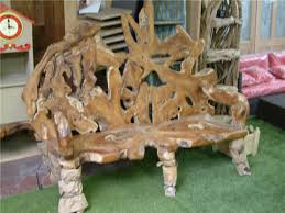 unusual outdoor furniture. rustic root emporer bench unusual outdoor furniture
