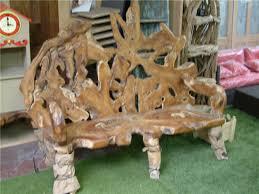 unusual outdoor furniture. rustic root emporer bench unusual outdoor furniture